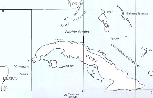 Our Route – a Cuban chart