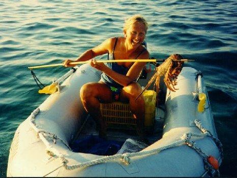 Lobster Dinner a la Marina Hemingway