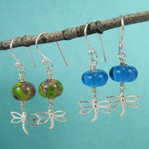 dragonfly earrings by sailorgirl jewelry