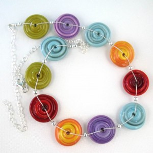 navajo spiral necklace by sailorgirl jewelry
