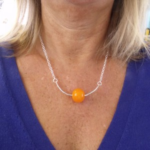creamsicle trapeze bubble necklace by sailorgirl jewelry