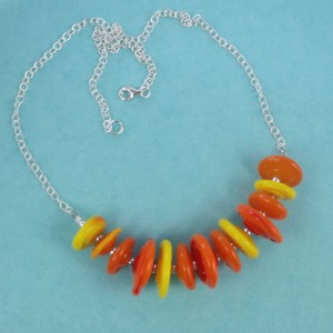 saucers of sunshine necklace by sailorgirl jewelry