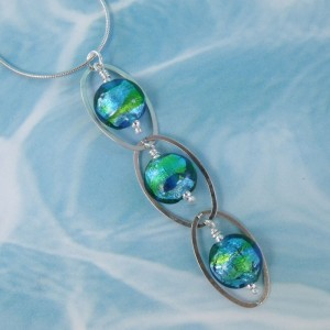 triple ocean drop necklace by sailorgirl jewelry