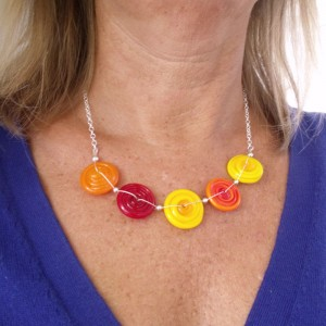 sunshine 5 spiral necklace by sailorgirl jewelry