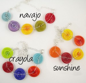 5 spiral necklaces by sailorgirl jewelry