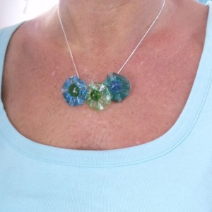 water pinwheel pop necklace by sailorgirl jewelry