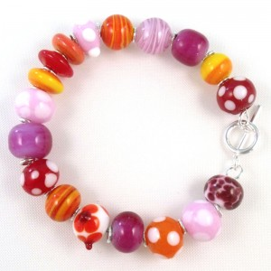 tropical sunrise bracelet by sailorgirl jewelry