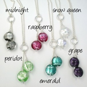jewel drop necklaces by sailorgirl jewelry