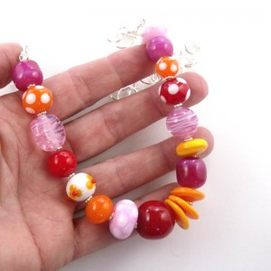 tequila sunrise necklace by sailorgirl jewelry