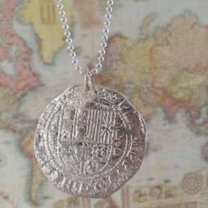 silver pirate coin by sailorgirl jewelry