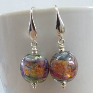 fire opal earrings by sailorgirl jewelry