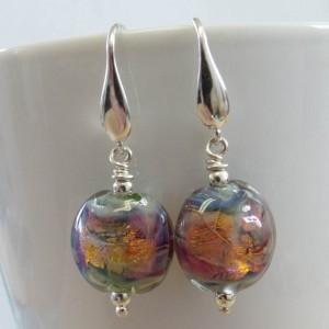 fire opal earrings by sailorgirl jewelry