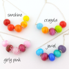 colour mini strand necklaces by sailorgirl jewelry