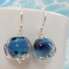 galaxy nugget earrings by sailorgirl jewelry