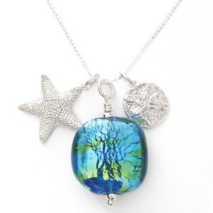 life is a beach necklace by sailorgirl jewelry