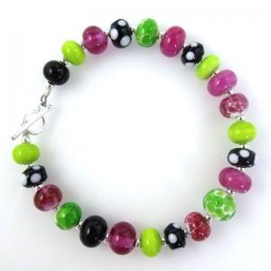 electric watermelon mini bead bracelet by Sailorgirl Jewelry