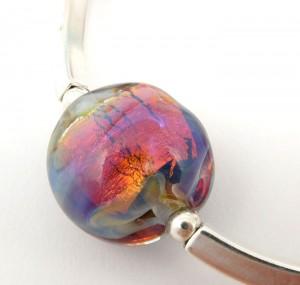 fire opal glass bead by sailorgirl jewelry