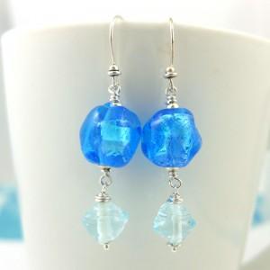 glacier earrings by sailorgirl jewelry