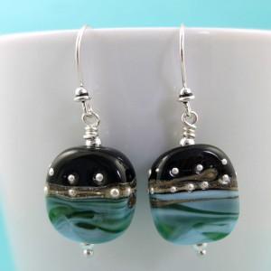 ocean at night earrings
