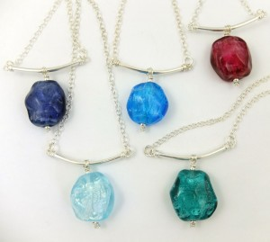 hanging jewel necklace by sailorgirl jewelry