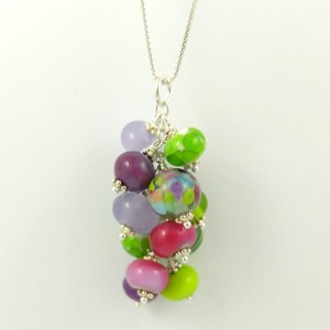 lilac cluster necklace by sailorgirl jewelry