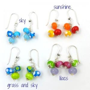 cluster earrings by sailorgirl jewelry