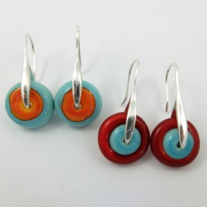 fiesta pinwheel earrings by sailorgirl jewelry