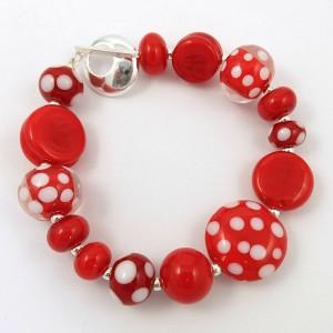 Canada Day bracelet by Sailorgirl Jewelry