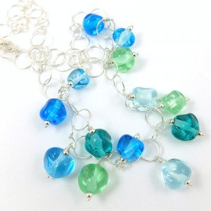 ocean crystal necklace by sailorgirl jewelry