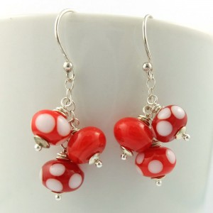 oh canada cluster earrings by sailorgirl jewelry
