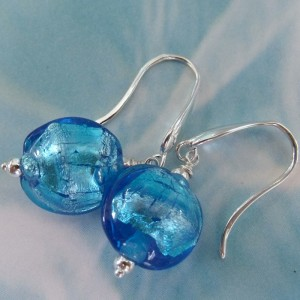 bahama blue ocean earrings by sailorgirl jewelry